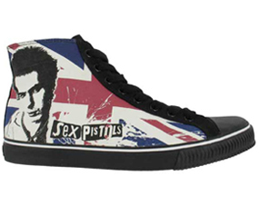 buty DRAVEN - SEX PISTOLS SID V. UNION HIGH black/blue